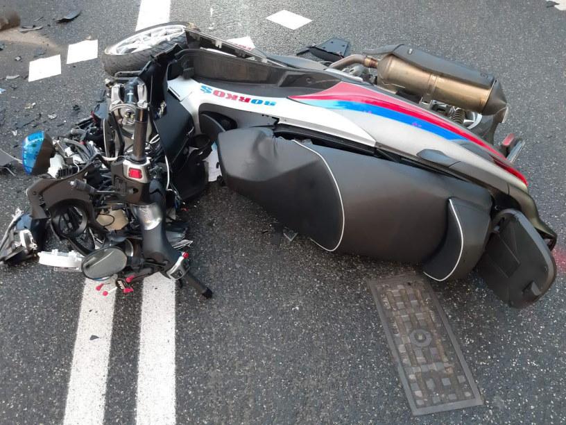 Kierowca motoambulansu miał wypadek